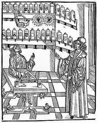 Alchemical Photograph - 16th Century German Pharmacy School by Cci Archives