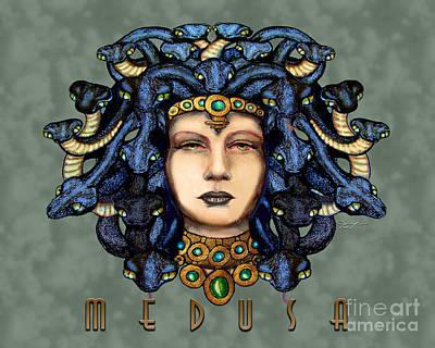 Gorgon Drawing - 16x20 Medusa 2 Medusa by Dia T