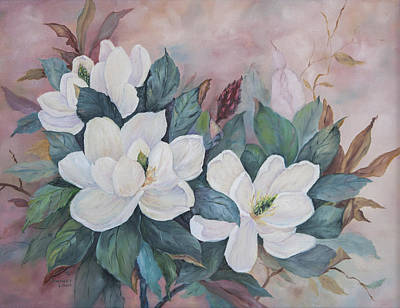 Flowers Of The South Print by Frances Lewis