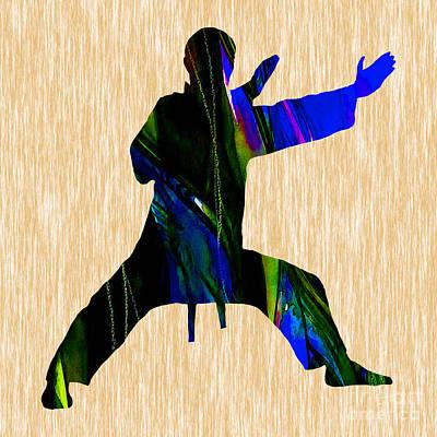 Athletes Mixed Media - Martial Arts Karate by Marvin Blaine