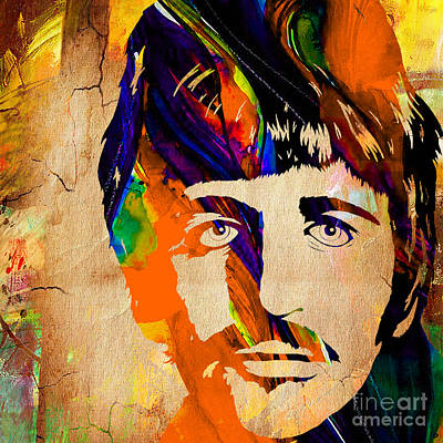 Musician Mixed Media - Ringo Starr Collection by Marvin Blaine
