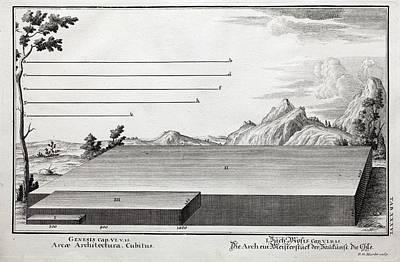 1731 Cubit Measurement Scale Noah's Ark Print by Paul D Stewart