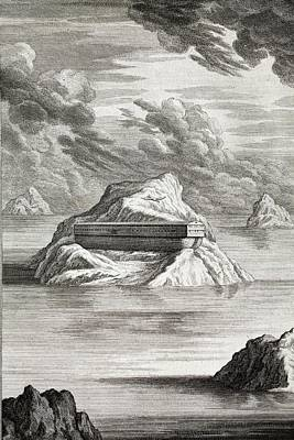 1731 Noahs Ark Arc On Mt. Carmel Print by Paul D Stewart