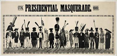 1776  Presidential Masquerade  1880 Print by Daniel Hagerman