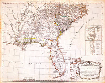 1776 - The Seat Of War In The Southern British Colonies Print by Kayleigh Green