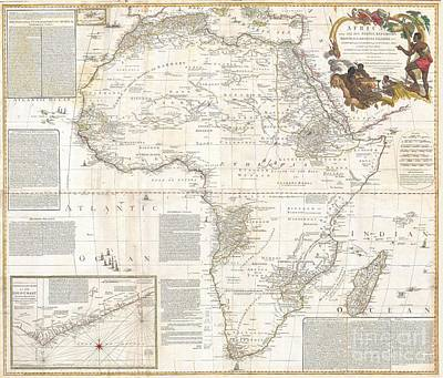 Wall Chart Photograph - 1787 Boulton  Sayer Wall Map Of Africa by Paul Fearn