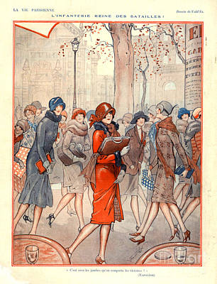 Magazine Plate Drawing - 1920s France La Vie Parisienne Magazine by The Advertising Archives