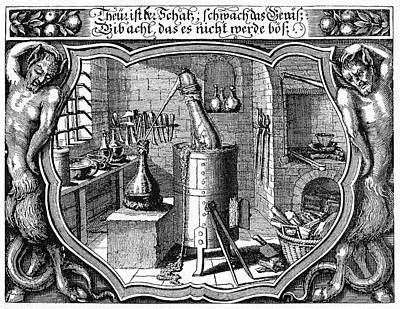 Alchemical Photograph - 17th Century Alchemist's Laboratory by Cci Archives