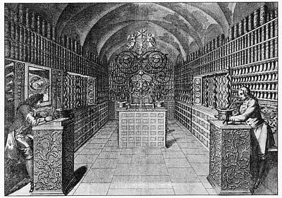Alchemical Photograph - 17th Century German Pharmacy by Cci Archives