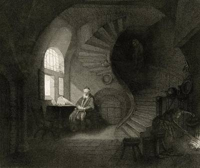 17th Century Philosopher, Artwork Print by Science Photo Library