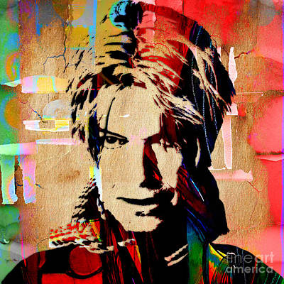 Rock N Roll Mixed Media - David Bowie Collection by Marvin Blaine