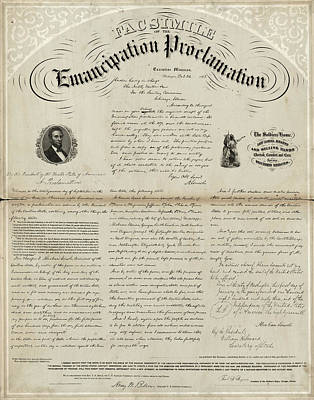 Proclamation Painting - Emancipation Proclamation by Granger