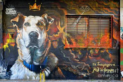 Graffiti On A Wall Print by George Atsametakis
