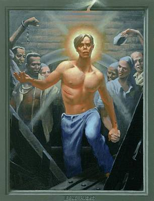 Lgbtq Painting - 18. Jesus Rises / From The Passion Of Christ - A Gay Vision by Douglas Blanchard