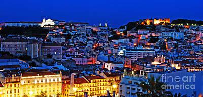 Lisbon Cityscape Print by Luis Alvarenga