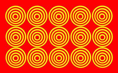 180 Circles Print by Asbjorn Lonvig