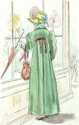 1812, Womens Fashion In Nineteenth-century Paris Print by Artokoloro