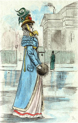 1814, Womens Fashion In Nineteenth-century Paris Print by Artokoloro