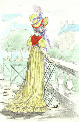 1816, Womens Fashion In Nineteenth-century Paris Print by Artokoloro
