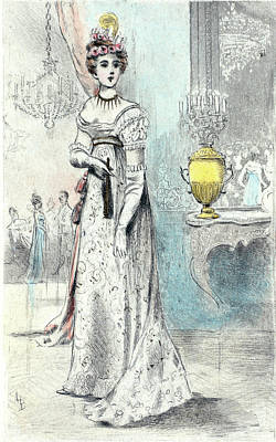 1819, Womens Fashion In Nineteenth-century Paris Print by Artokoloro