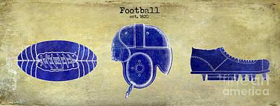 1820 Football Drawing Print by Jon Neidert