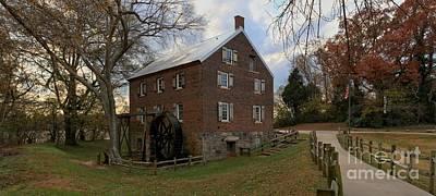 Kerr County Photograph - 1823 North Carolina Grist Mill by Adam Jewell