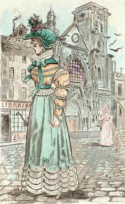 1823, Womens Fashion In Nineteenth-century Paris Print by Artokoloro