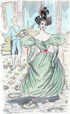 1826, Womens Fashion In Nineteenth-century Paris Print by Artokoloro