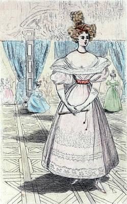 1828, Womens Fashion In Nineteenth-century Paris Print by Artokoloro