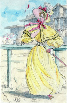 1841, Womens Fashion In Nineteenth-century Paris Print by Artokoloro