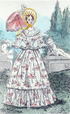 1845, Womens Fashion In Nineteenth-century Paris Print by Artokoloro