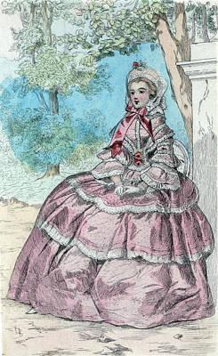 1854, Womens Fashion In Nineteenth-century Paris Print by Artokoloro