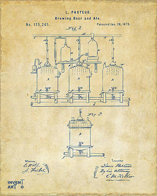 1873 Brewing Beer And Ale Patent Artwork - Vintage Print by Nikki Marie Smith
