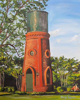 Water Tower Place Painting - 1873 Wadley Water Tower  by Stacy Ingram