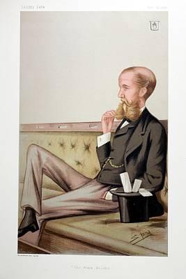Megalith Photograph - 1878 Sir John Lubbock Portrait Cartoon by Paul D Stewart