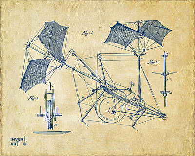 1879 Quinby Aerial Ship Patent Minimal - Vintage Print by Nikki Marie Smith