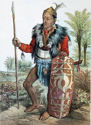 1881 Carl Bock Dayak Dyak Head Hunter Print by Paul D Stewart