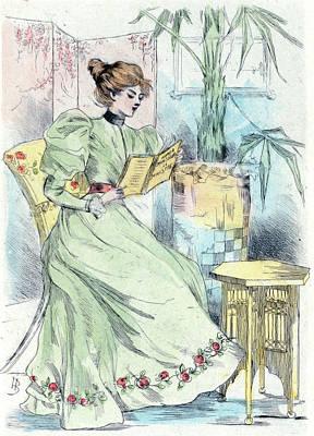 1881, Womens Fashion In Nineteenth-century Paris Print by Artokoloro