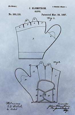 1887 Baseball Glove Patent Print by Dan Sproul