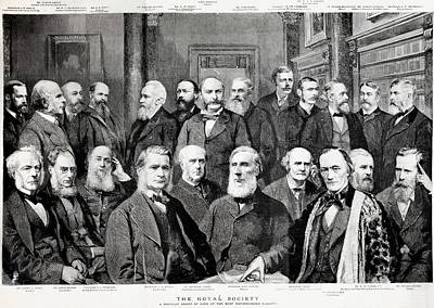 Huxley Photograph - 1889 Portrait Famous Fellow Royal Society by Paul D Stewart