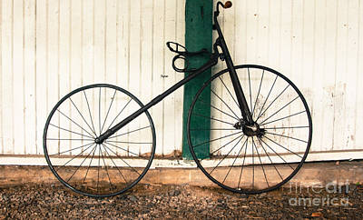 Bicycling Photograph - 1890 Velocipede  by Steven  Digman