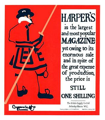 Affiche Digital Art - 1896 - Harpers Magazine Advertisement Poster - Color by John Madison
