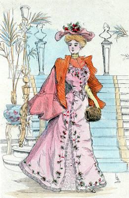 1898, Womens Fashion In Nineteenth-century Paris Print by Artokoloro