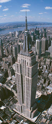 Empire State Photograph - Aerial View Of Buildings In A City by Panoramic Images
