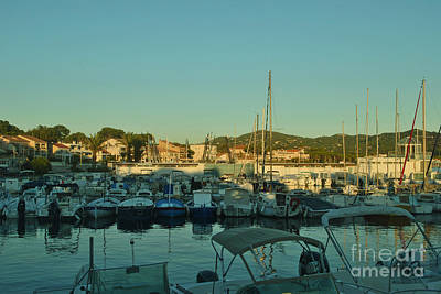 Turquois Water Photograph - Beautiful Harbours At The French Riviera by Maja Sokolowska