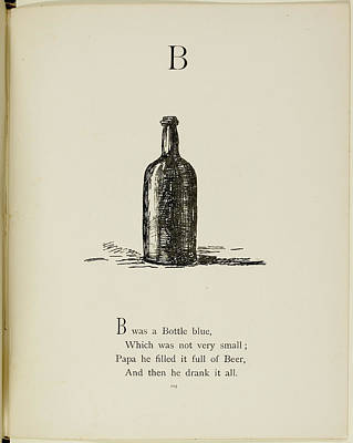 Etc Photograph - Nonsense Alphabets By Edward Lear by British Library