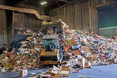 Bulldozer Photograph - Recycling Plant by Jim West