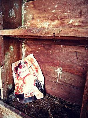 The Blushing Barn Print by Cyryn Fyrcyd