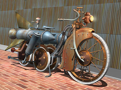 1900 Dual Rocket Steambike Original by Stuart Swartz