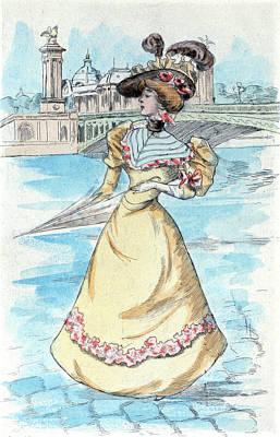 1900 Womens Fashion In Nineteenth Century Paris Print by Artokoloro